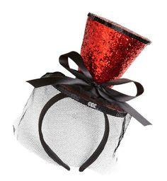 Sombrero Chistera Mini glitter - Rojo