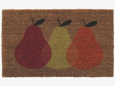 PEAR Patterned coir door mat