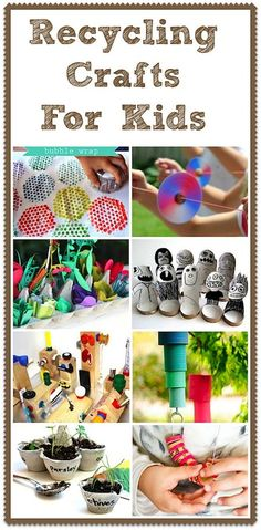 25 creative out of waste material crafts for kids waste for Creative recycling ideas for kids