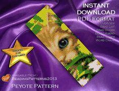 Peyote Pattern Bracelet Cuff Beading Miyuki Delica Size 11 Beads - PDF Download - Daisy Cat