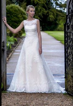 Adorable blush wedding dress