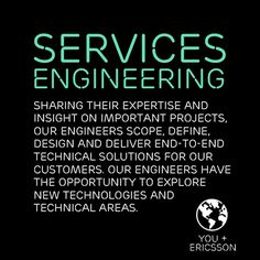 As an #Engineer at #Ericsson, you'll be part of a team that creates solutions built on Ericsson's traditions of reliability, trust and integrity, while positively affecting people's lives. Learn more: https://jobs.ericsson.com/go/Services-Engineering-Jobs/395846/?utm_source=careersite&utm_campaign=Home