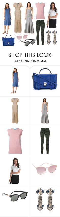 """""""Jackson And Stylish"""" by donna-wang1 ❤ liked on Polyvore featuring T By Alexander Wang, Proenza Schouler, J. Mendel, Marissa Webb, THEATRE PRODUCTS, Hudson, Brooks Brothers, Quay, Victoria Beckham and Anton Heunis"""
