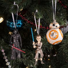 Star Wars Kylo Ren, Rey & BB-8 Ornaments