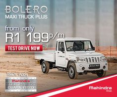 Buy a Mahindra Bolero Maxi Truck Plus Bakkie in South Africa from Only per month. Terms and conditions apply. Driving Test, South Africa, How To Apply, Trucks, Indian, Cars, Autos, Truck, Car