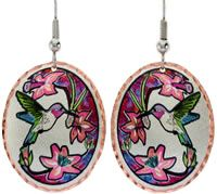 Hummingbird Earrings Handcrafted in Beautiful Colors.