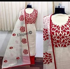 Semi Modal Embroidered Dress Material Vol 2 from Stf Store Kurti Embroidery Design, Embroidery Suits, Designer Wear, Designer Dresses, Fancy Dress Design, Classy Suits, Applique Dress, Patiala, Western Wear