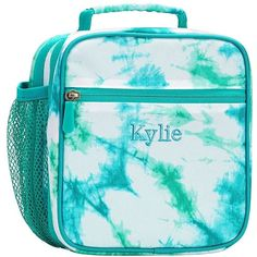 PB Teen Gear-Up Pool Tie-Dye Classic Lunch ($25) ❤ liked on Polyvore featuring home, kitchen & dining, food storage containers, lunch bag, eco friendly lunch bags, lunch sack and pbteen