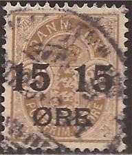 Denmark - 1904 15o on 24o Overprint - F/VF Used - Scott #56