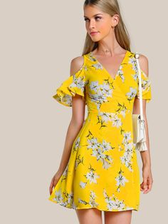 Patterned Dress Stylish and Beautiful Summer Dresses - Casual Summer Dresses Beautiful Summer Dresses, Casual Summer Dresses, Trendy Dresses, Cute Dresses, Short Dresses, Fashion Dresses, Dress Summer, Floral Dresses, Dress Casual