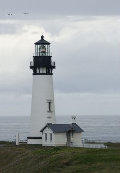 Yaquina Head Lighthouse near Newport, Oregon.