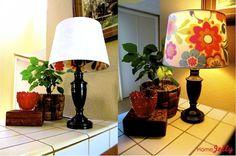 peekaboo shade ... diy ... lamp with light off, light on!