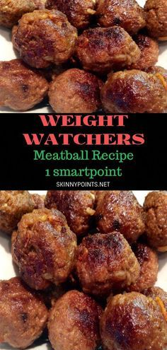 INGREDIENTS: 1 lb extra lean ground beef 1 egg 1 cup water 1 package stove top stuffing mix (any flavour) Directions: Mix all ingredients together Roll into 20 meat balls Spray a pan with non-stick cooking spray, add meatballs over med heat until Weight Watcher Ground Beef Recipe, Weight Watchers Meatball Recipe, Weight Watchers Menu, Weight Watcher Dinners, Meatball Recipes, Skinny Recipes, Ww Recipes, Cooking Recipes, Healthy Recipes