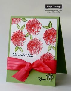 Do you know what I love? What I love is this new stamp set, What I Love, from Stampin' Up!'s Sale-A-Bration (SAB) catalog. This is one of eleven (!!!) items that can be yours for FREE with every $5...