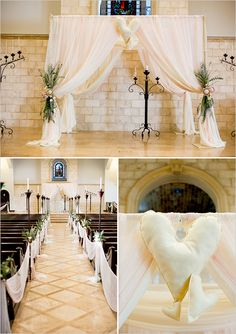 chuppah with exotic greens and protea. http://rosechairdecor.com/linens-rentals