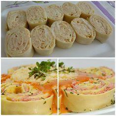 Rondelli de Presunto e Queijo •1 pacote de 500 g de massa pré-cozida para lasanha; •3 colheres de sopa de manteiga; •1 lata de molho de tomate; •250 g de presunto fatiado; •1 cebola picada; •250 g de queijo mussarela fatiado; •2 dentes de alho picados; •6 tomates maduros picados sem as sementes; •Queijo parmesão ralado; •Sal a gosto.