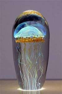 Satava Art Glass Jellyfish