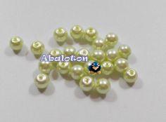 perlas cristal lacado verde pastel 6mm