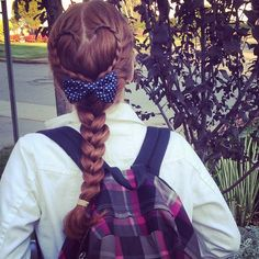 heart braid with bow