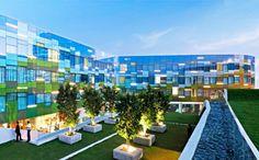 A Green-Roofed Mobius Strip Wraps India's Vivanta Hotel