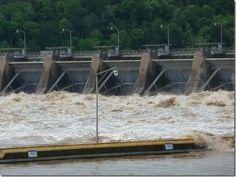 dardanelle arkansas river bridge | Dardanelle Lock and Dam, Arkansas River, April 26, 2011