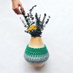 One Sheepish Girl | One Sheepish Girl + West Elm #crochet #vase
