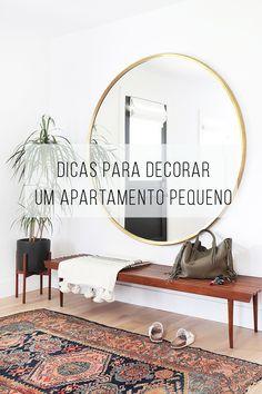 + 6 dicas de como decorar um apartamento pequeno sem erro \o/! // Dicas e truques para decorar a sua casa! // palavras-chave: decoração, decor, design de interiores, dicas, apartamento pequeno, casa pequena, textura, rearrumar