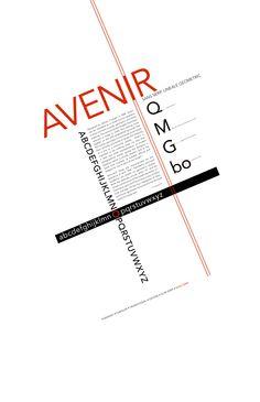 Avenir. type. typography. poster