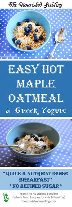 Super easy and ready in minutes, this nutrient rich oatmeal tastes delicious and is full of iron, protein, fiber and healthy fats. #cleaneats