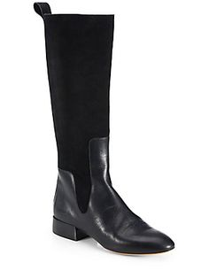 Chlo? Leather & Suede Knee-High Boots
