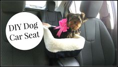 DIY Dog Car Seat Tutorial