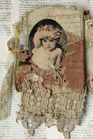 fabric book of cherubs ~ awesome creation by Judy Mccallum.