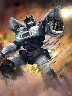Autobot Jazz Artwork From Transformers Legends Game