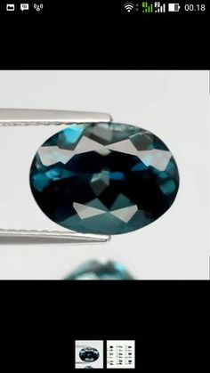 natural london blue topaz 4.43ct