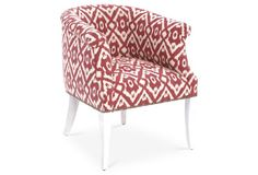 Tilly Occasional Chair, Berry Ikat
