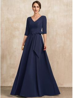 A-Line Scoop Neck Floor-Length Chiffon Lace Mother of the Bride Dress With Beading Sequins Cascading Ruffles (008217326) - JJ's House Mother Of Groom Dresses, Bride Groom Dress, Mother Of The Bride, Mob Dresses, Bridesmaid Dresses, Formal Dresses, Bride Dresses, Dress With Bow, I Dress