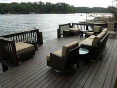 beautiful deck over water