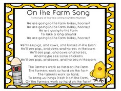 the Farm Song FREE On the Farm Song perfect for your farm unit or farm themed classroom.FREE On the Farm Song perfect for your farm unit or farm themed classroom. Songs For Toddlers, Lesson Plans For Toddlers, Kids Songs, Preschool Lesson Plans, Farm Animal Songs, Farm Songs, Farm Animals, Preschool Songs, Preschool Farm Theme