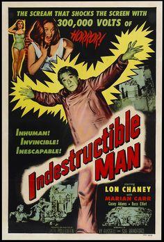 #theindestructible man #filmposter