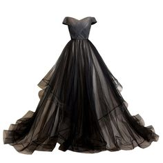 Amazon.com: LYNBRIDAL Women Black Evening Dress Ball Gown Tulle Long... ($133) ❤ liked on Polyvore featuring dresses, gowns, prom dresses, long tulle dress, prom gowns, long prom dresses and long evening gowns