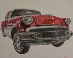 56' Buick Special. 20x16 Acrylic & Charcoal on Canvas 2013    https://www.facebook.com/PatricioLazenFineArt