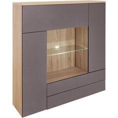 temahome buffet haut dann ch ne avec 6 niches et 2 portes coulissantes etag res biblioth ques. Black Bedroom Furniture Sets. Home Design Ideas
