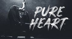 Pure Heart - realistic brush font by Greg Nicholls.