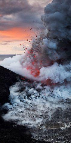 Volcán Kilauea, en erupción. Hawai.