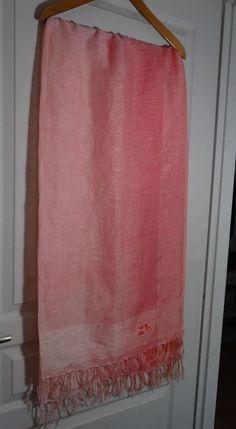 Très grande étole écharpe d été luxe Sonia Rykiel 198 x 100 corail rose pale cc1fbd2ef16
