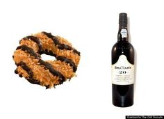 Girl Scout cookies and wine pairing. Nice.