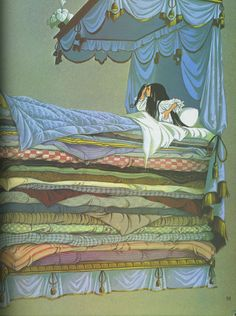 Fairy Tale Illustration - princess and the pea