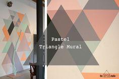 Mural de formas geométricas...ya demás en colores pastel! :) Un tutorial de OPENstudio79