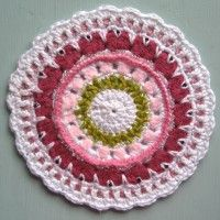 Crochet Mandala Wheel made by  Nicola, Bedfordshire, UK,  for yarndale.co.uk