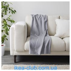 ИКЕА (IKEA) CLUB | | 903.048.89, ВИТМУССА, Плед, серый, 120x160 см